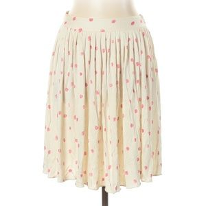 Moschino Cheap And Chic Polkadot Silk Skirt